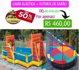 FUTEBOL DE SABÃO 10 MTS + CAMA ELÁSTICA 3,70 MTS