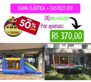 Cama Elástica + Castelo 2x1