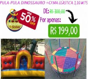 Cama Elástica 3,10 mts + Pula-Pula Dinossuaro 3 x 3 mts