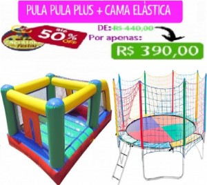 PULA-PULA PLUS C/ BOLINHAS 5 MTS COMP + CAMA ELÁSTICA 3,10 MTS