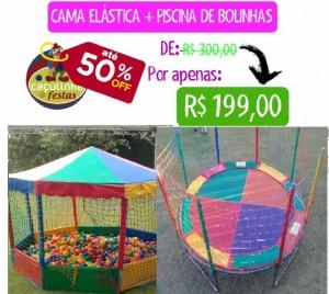 Cama Elástica 3,10 mts + Piscina 1,5 X 1,5 mts