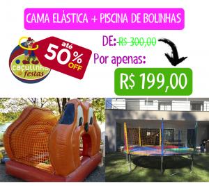 Cama Elástica + Piscina de Bolinhas
