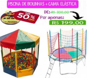 PISCINA DE BOLINHAS PICADEIRO 1,5 X 1,5 MTS + CAMA ELÁSTICA 3,10 MTS