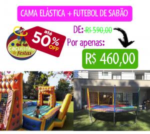 Cama Elástica + Futebol de Sabão